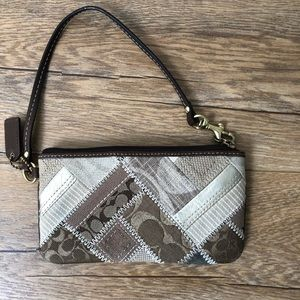 Coach wristlet purse, multi print